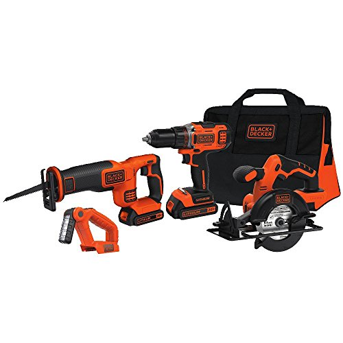 Black & Decker BDCD2204KIT 20-Volt MAX Lithium-Ion four-Resource Combo Kit