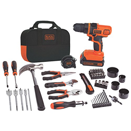 Black & Decker LDX120PK 20-Volt MAX Lithium-Ion Drill and Job Package